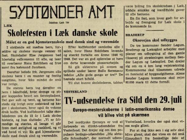Flensborg Avis den 13.06.1961