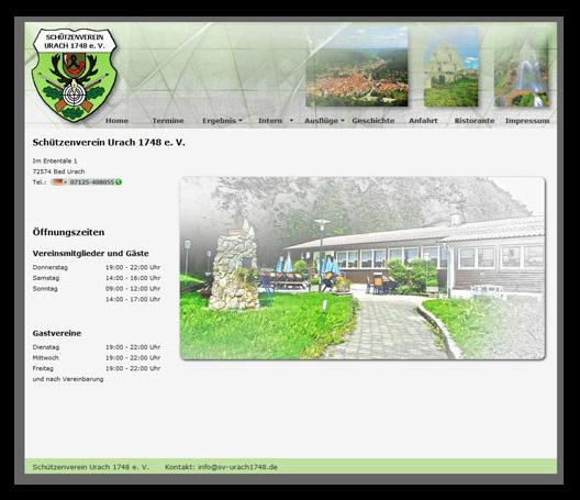 Alte Website bis 2015 vom Schützenverein Bad Urach