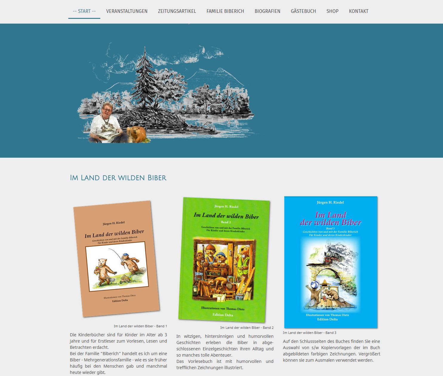 Kinderbuchautor Jürgen H. Riedel: www.wilde-biber.de