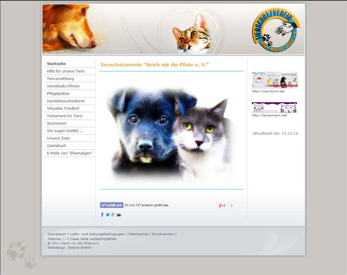 """Tierschutzverein """"Reich mir die Pfote e. V."""" musste 2014 aufgelöst werden"""