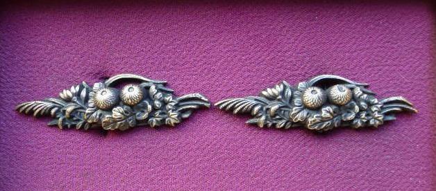 Chrysanthem - Brass Menuki - SOLD !