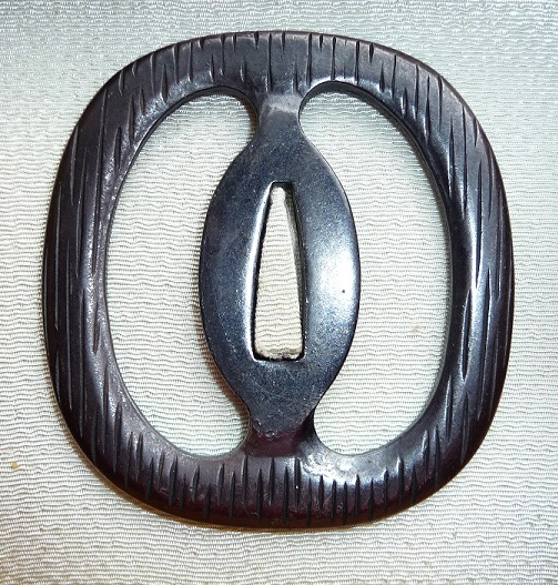 Sea Cucumber/falling Rain - Steel Tsuba : HOLD