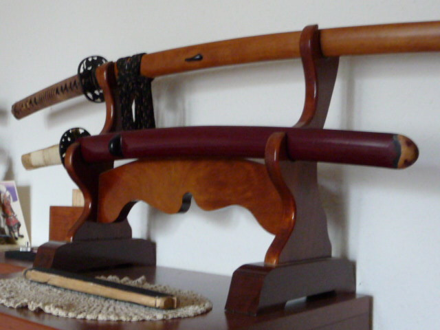 Bugei deluxe Jatoba (cherry like) double Stand - SOLD !