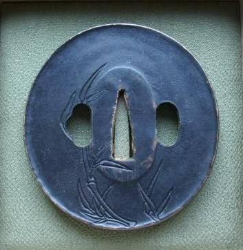 Bamboo Stalk/Leafs - Copper Tsuba, rear