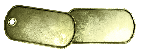 Leere Goldene Battlefield 3 Dog Tags