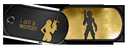 Battlefield 3 Dog Tag für Frauen