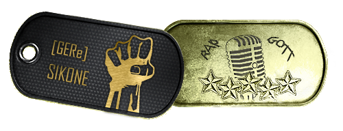 Battlefield 3 Dog Tag Golden