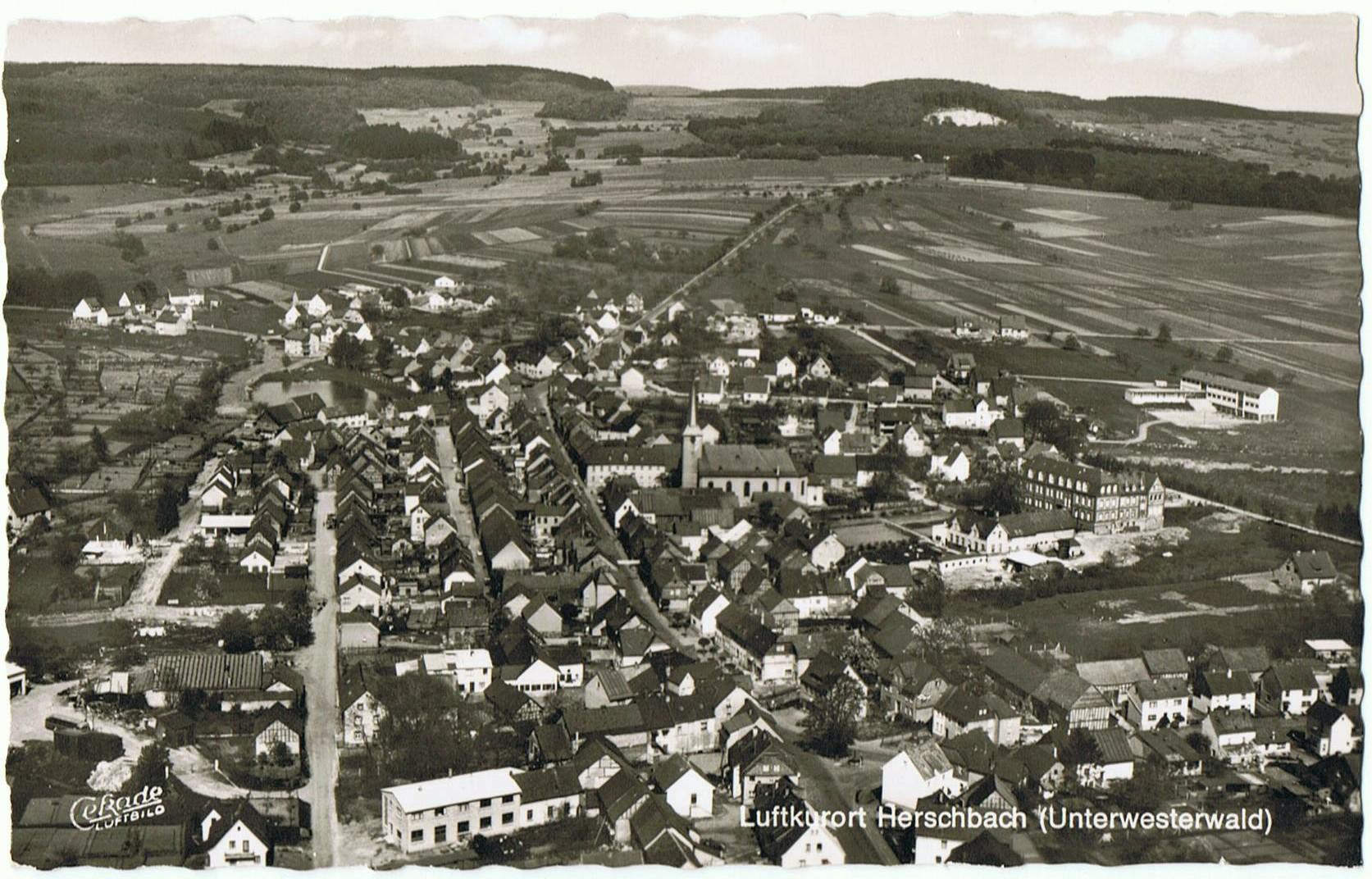 Luftbild Herschbach Anfang der 60er