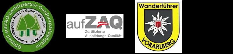 www.outdoorpädagogen.at                                                           www.aufzaq.at                                                                                               www.bergführer.at/Vorarlberg/