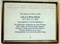 Gedenktafel Lilli Palmer, Foto: Ute Nietsch 2002