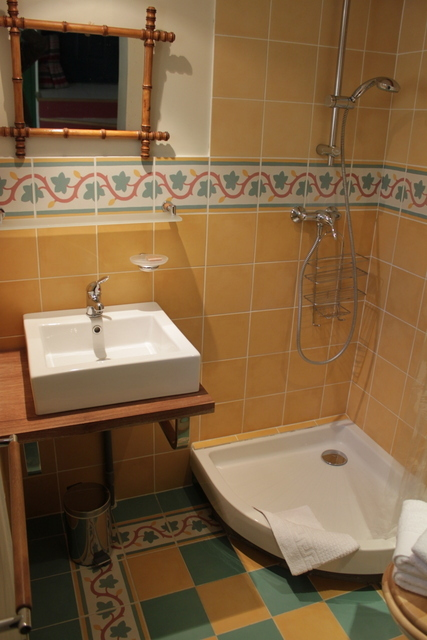 The shower room and lavatory