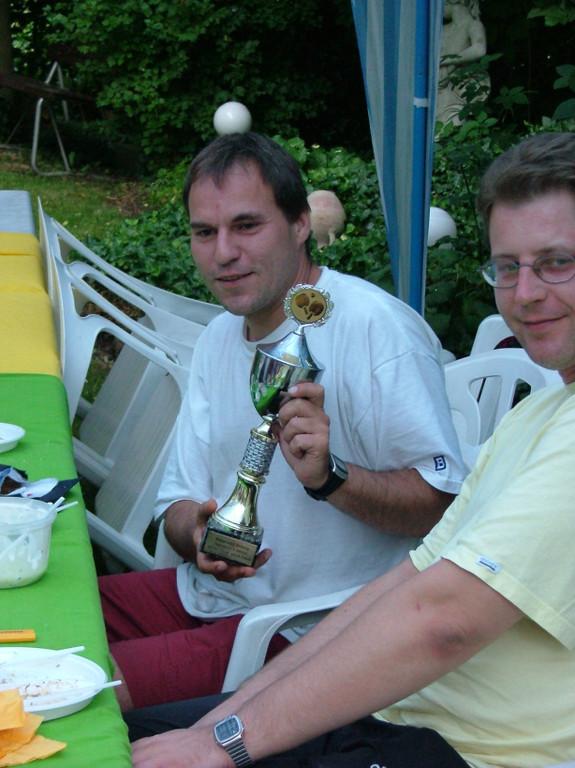 Meister Thomas Schiller und Vizemeister Frank Machoczek