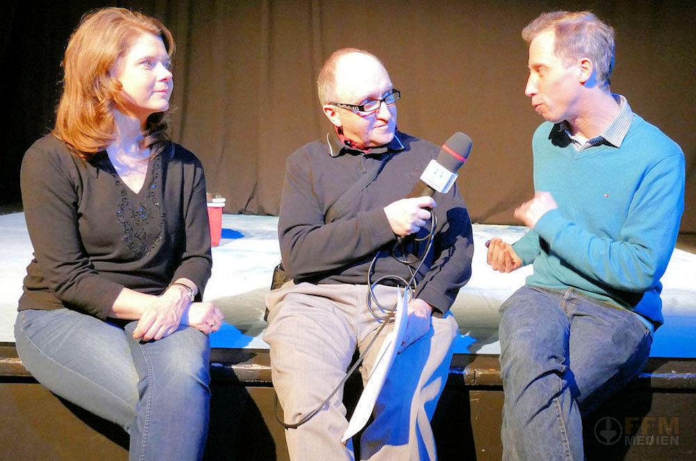 Schauspieler Susanne Lammertz und Regisseur Jan Schuba im Interview © dokfoto.de / Mary Pins