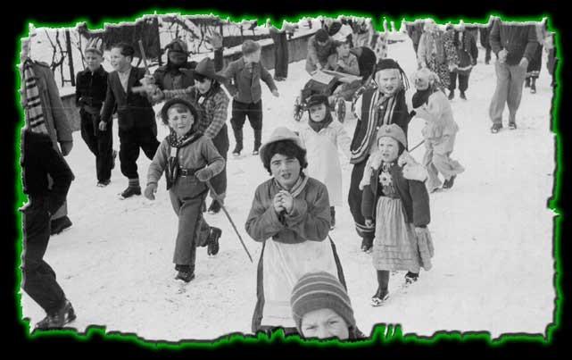 Randegger Kinder beim Umzug 1955