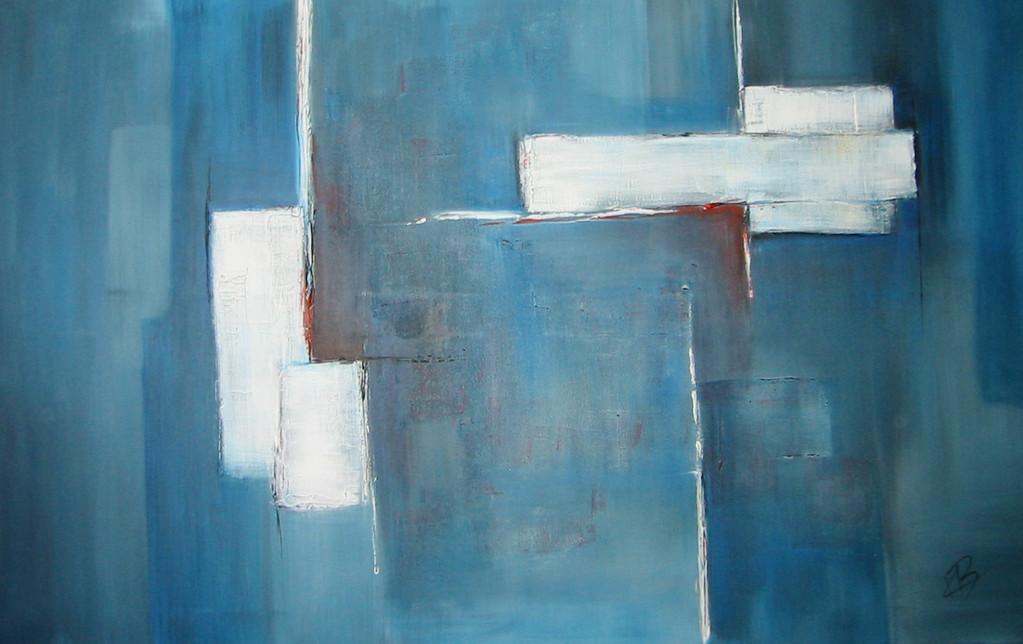 Blaue Stunde - Acryl auf Leinwand/Mischtechnik