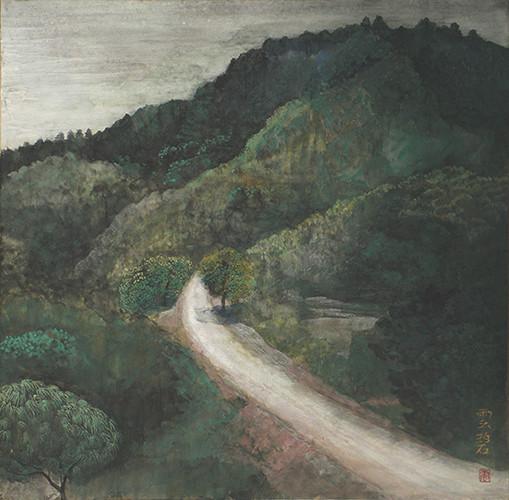 村の道      53.0x53.0