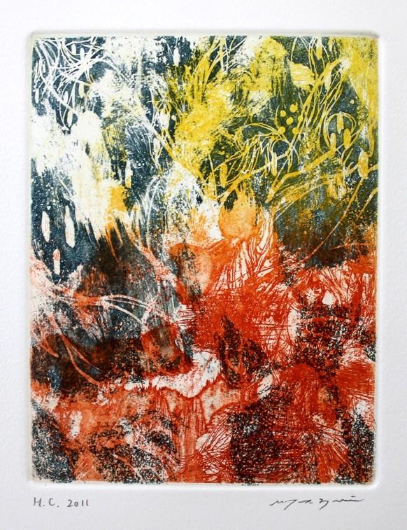Colors  カラー銅版画 18x14cm