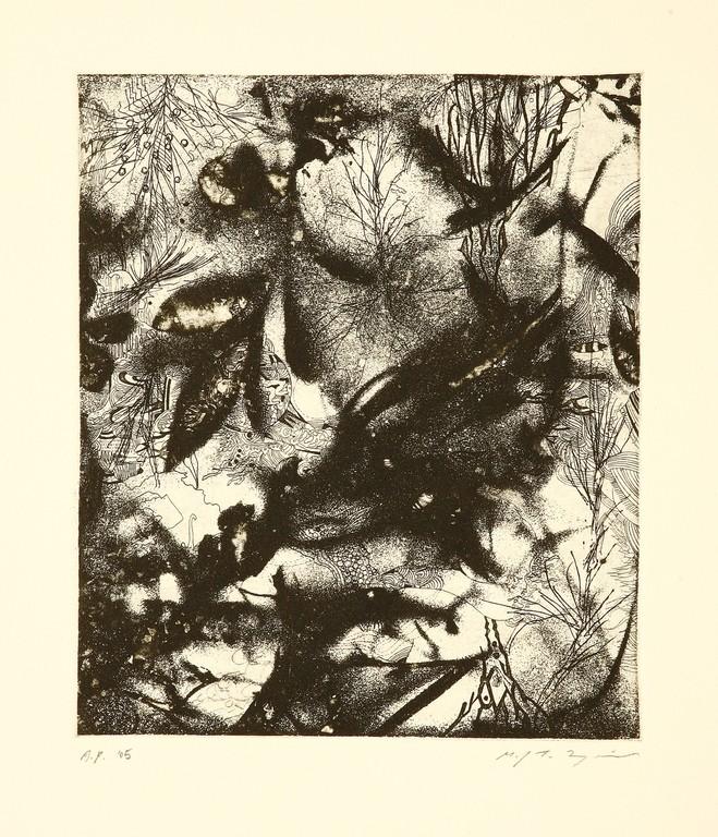 地底の影 銅版画 24x20cm