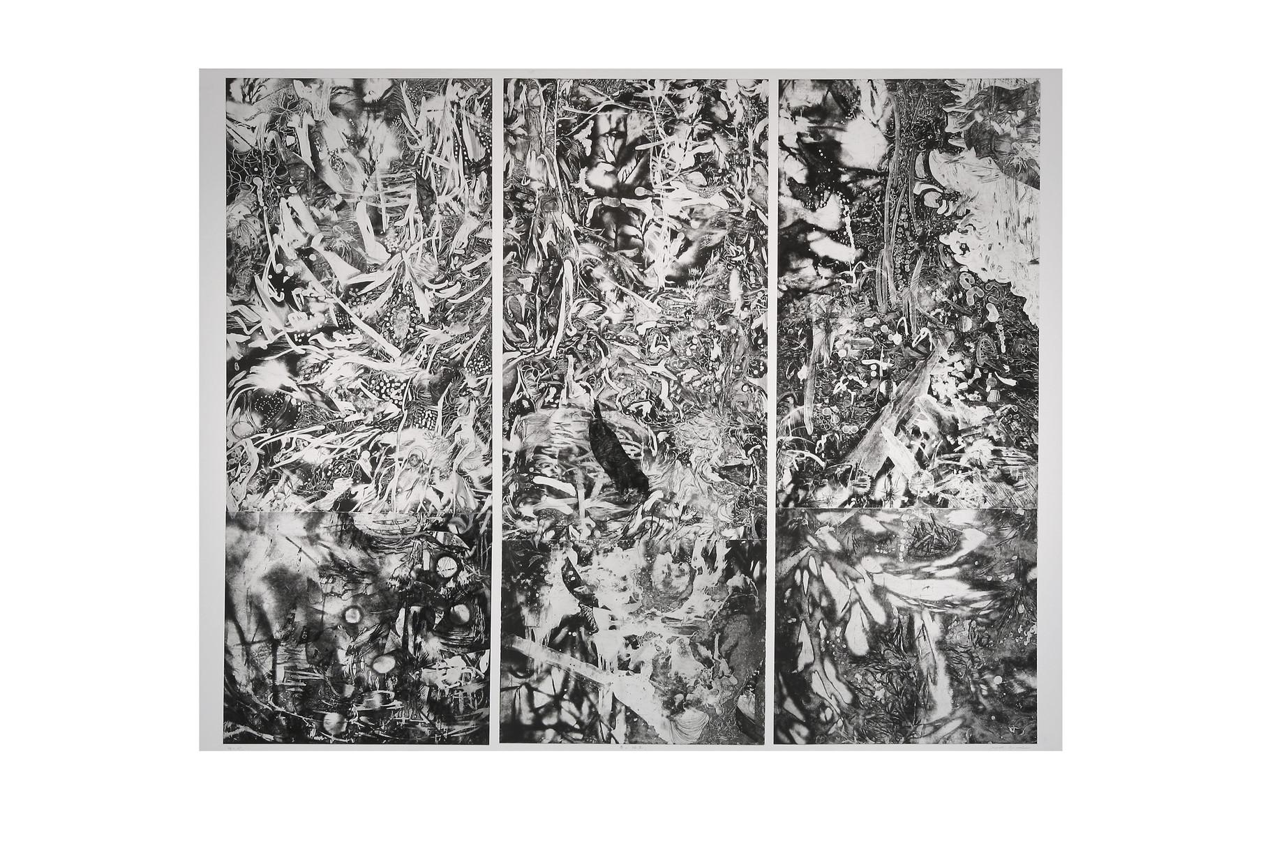 春の誕生 2007年 銅版画 130x160cm