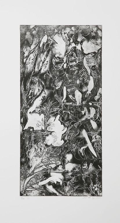 夜Ⅱ 銅版画 30x20cm