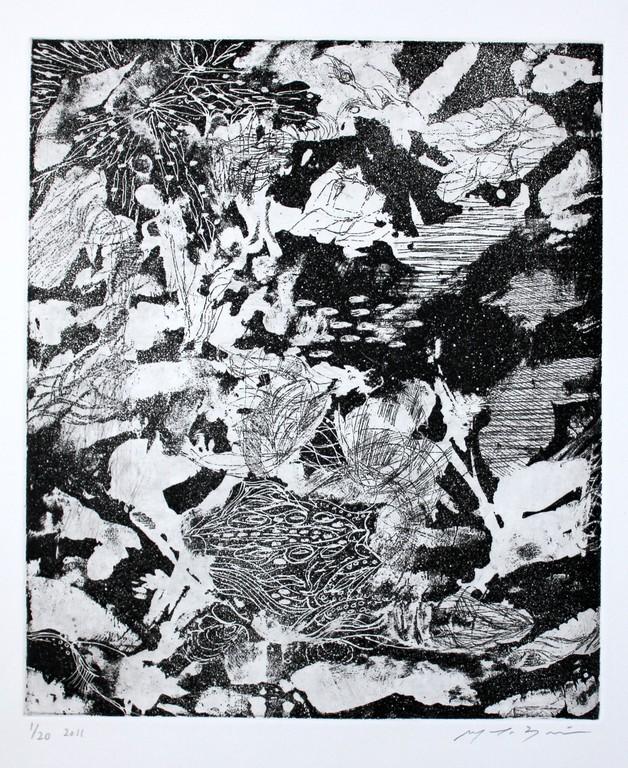 スクロヴェー二の夜 銅版画 29x25cm