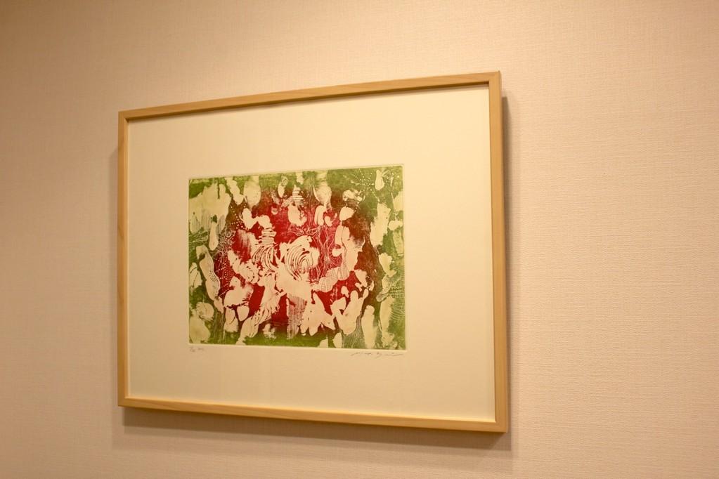 作品「対比的な音の響きのために」 銅版画、多色印刷 A3サイズ 2011年