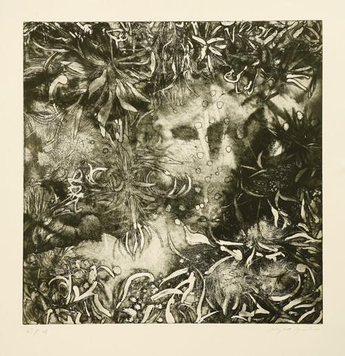 地底の影Ⅱ 銅版画 45x45cm