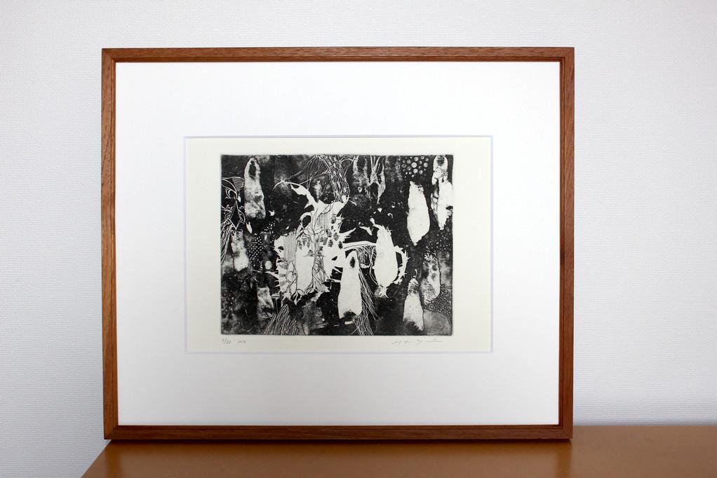 作品「ゲゲゲ」 銅版画、B5サイズ 2010年