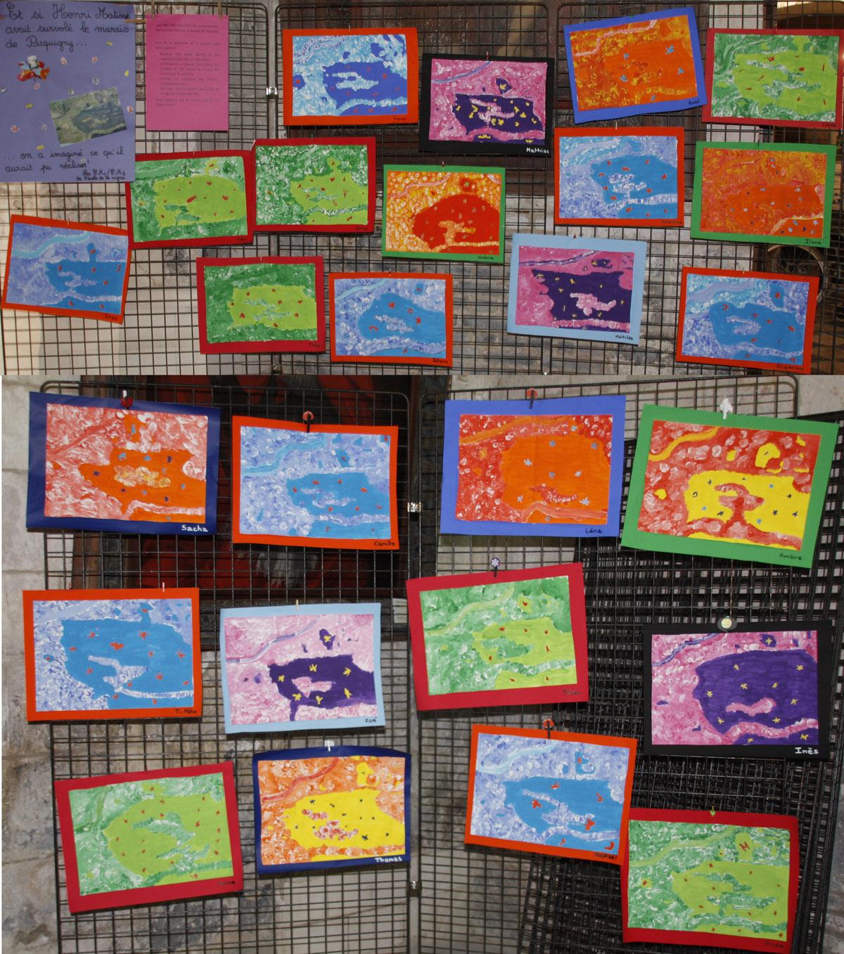Exposition des travaux d'élèves de l'école sur le thème des marais de Picquigny.