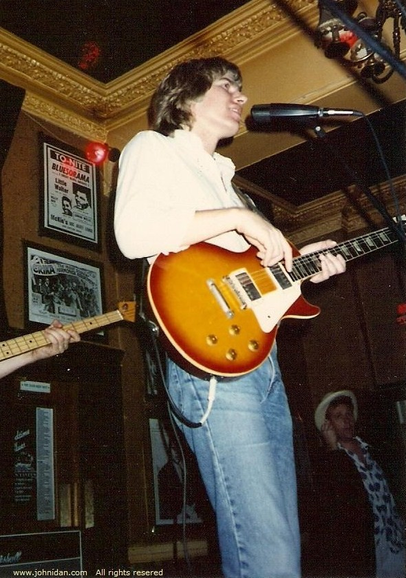Playing my '59 Les Paul at the Station Tavern in 1990; Photo: Unknown