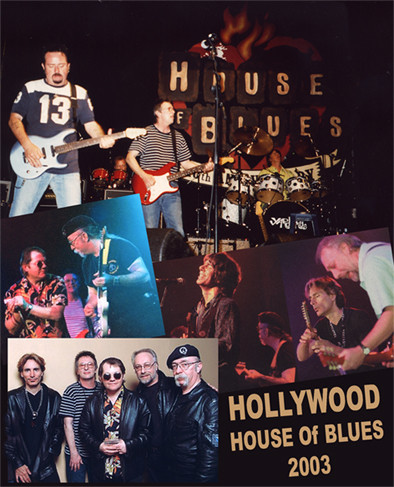 House of Blues 2003 with Steve Vai, Jeff Baxter & Steve Lukather; Photo: Unknown