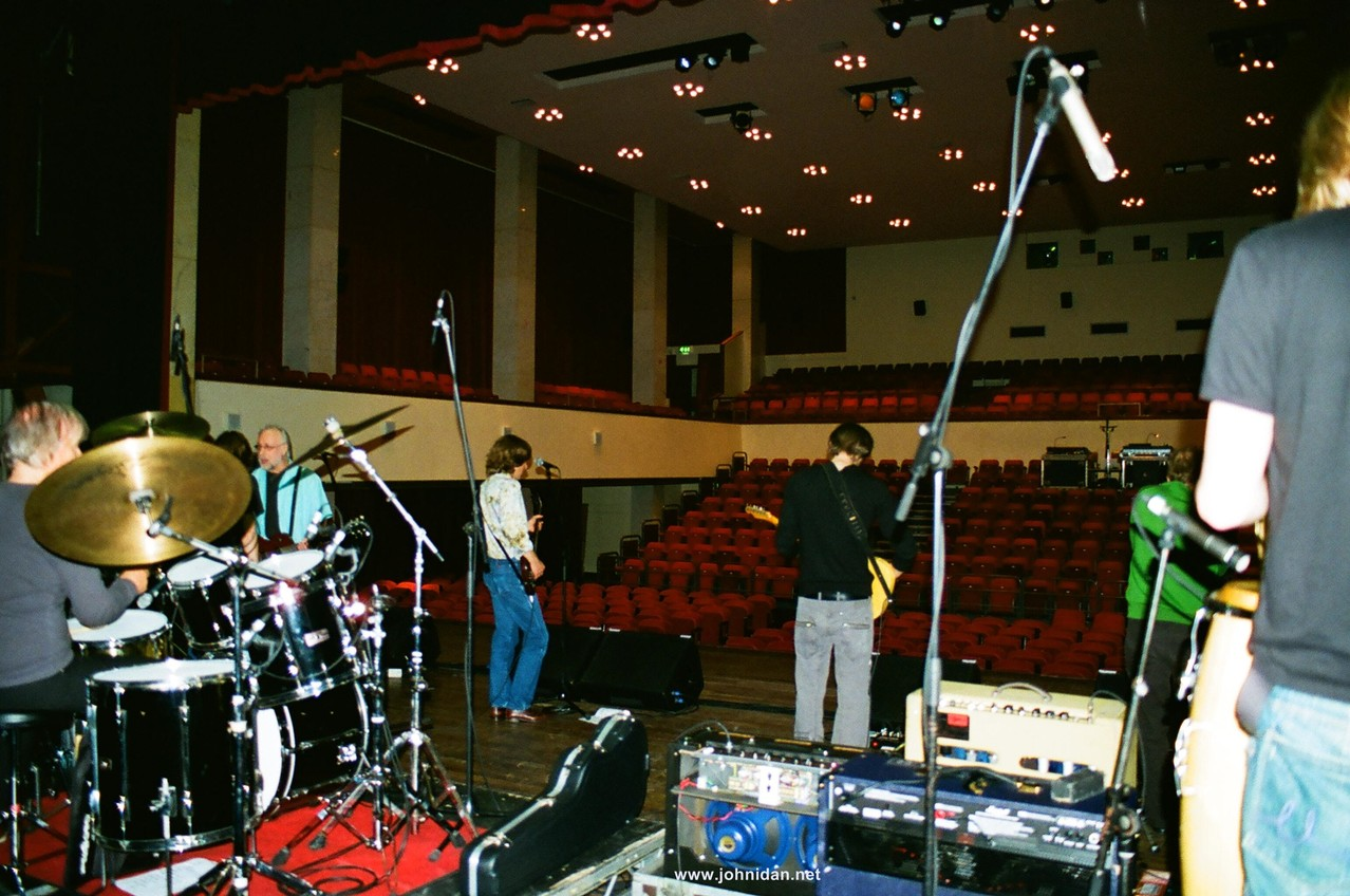 Soundcheck at The Zombies & Yardbirds Tour 2008; Photo: Franziska Idan