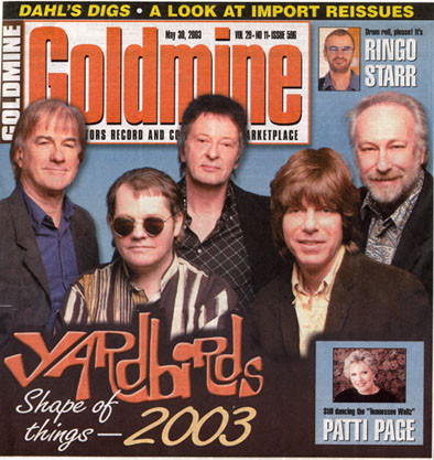 Goldmine Magazine Cover 2003