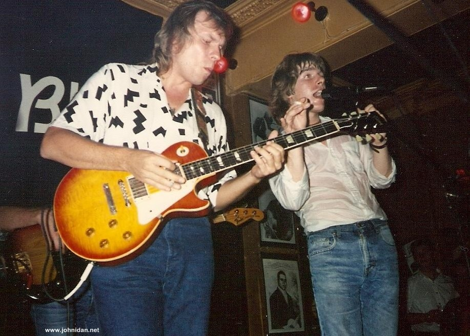 Hans Alihag playing my '59 Les Paul! at the Torrington, London 1990; Photo: Unknown