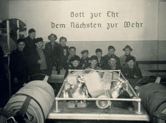 Einzug ins Gerätehaus 1957