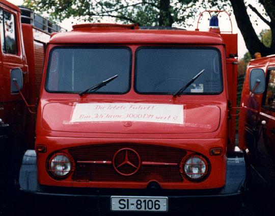27.10.1989 Unimog TLF 8/8 Bund wird ausgemustert statt für DM 3000 gekauft