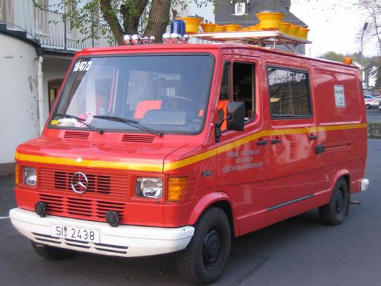 8.11.1984 TSF Mercedes T310 für DM 40.000 löst 27 Jahre alten Ford Transit TSF ab.
