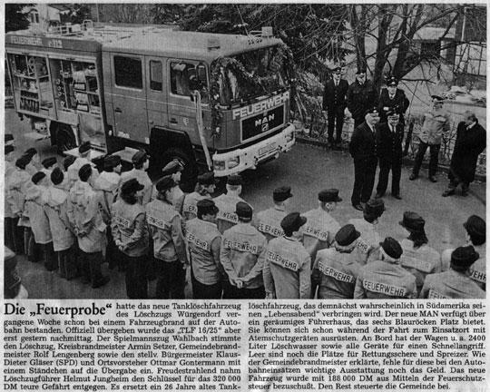 01.04.1996 Übergabe TLF