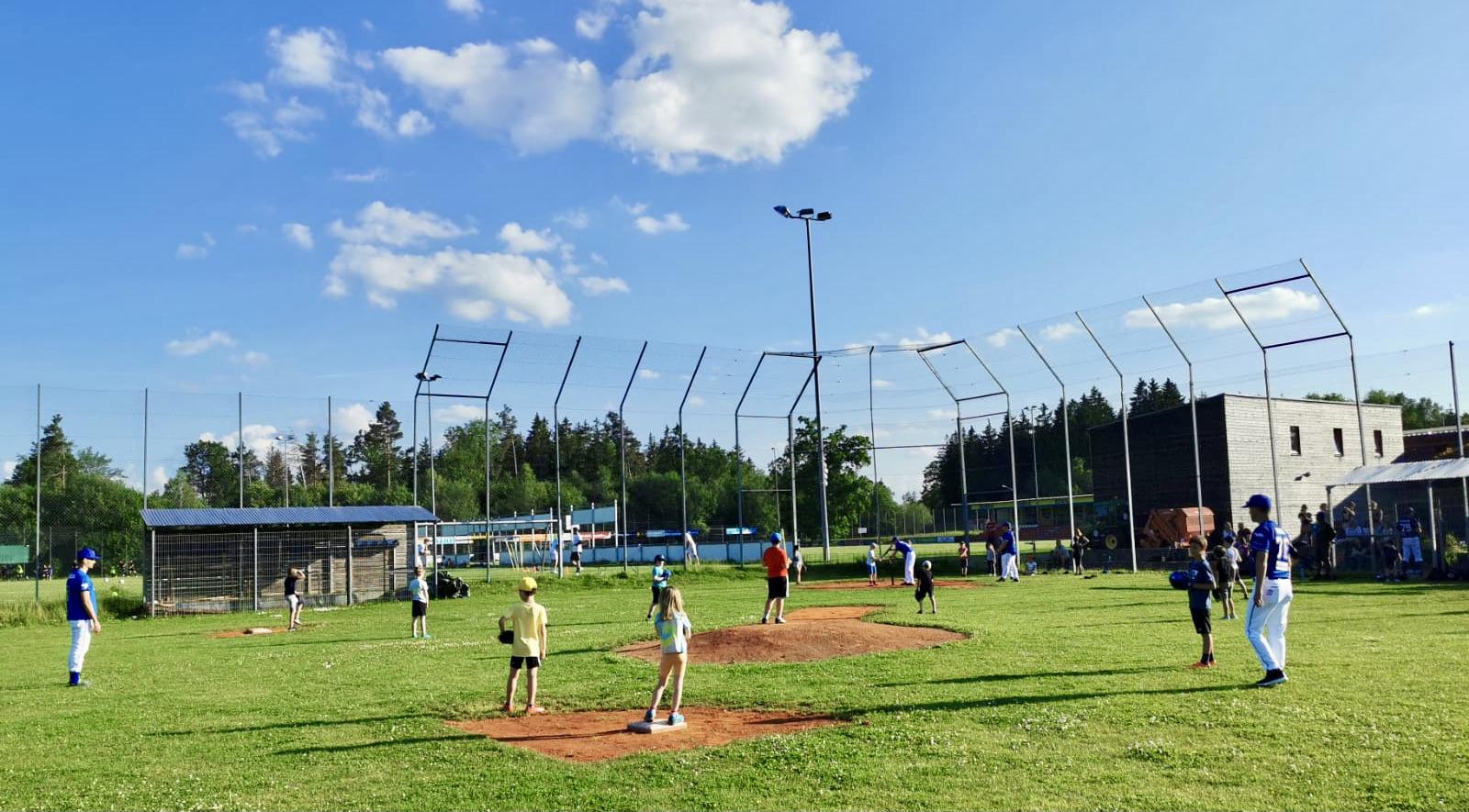 Probetraining für neue Baseballer