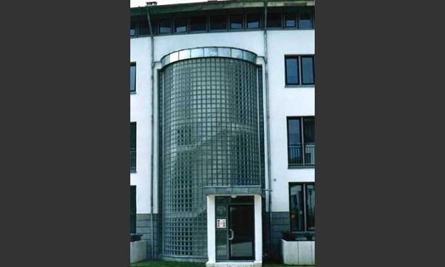 Glasbaustein-Treppenhausverglasungen