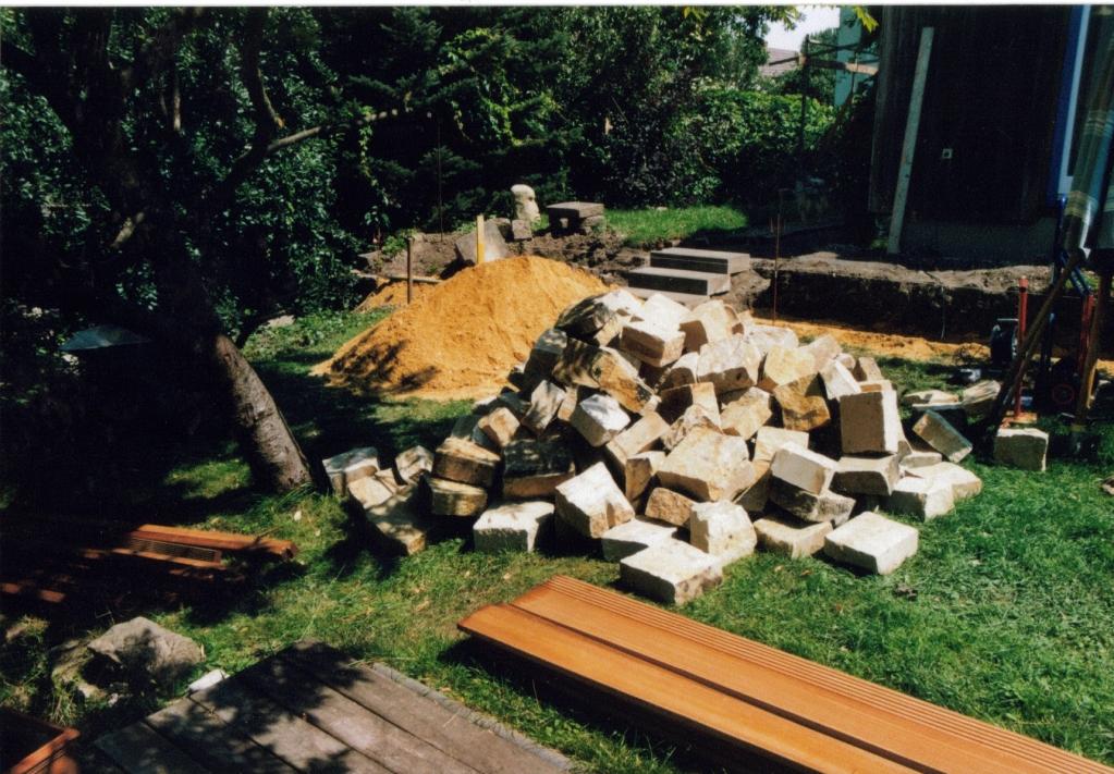 Trockenmauersteine aus Pirna geliefert