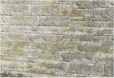 Betonwerksteinmauer aus eigener handgefertigter Herstellung von Otto Langner, 1970