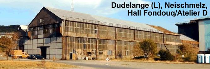 Dudelange, Route de Thionville, Hall Fondouq/Atelier D, Industrierbrache, friche, Neischmelz, Foto: Theophil Schweicher