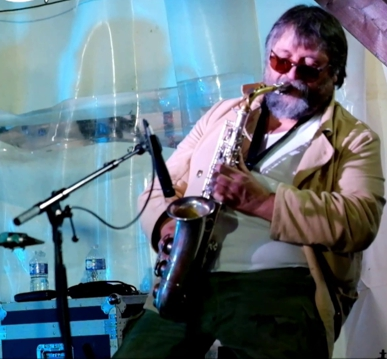 Luciano Pagiarini live in Godbrange (F), Jazz en Sol Mineur 2021 (Foto © Fred Bisenius, 2021)