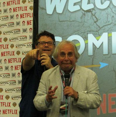 Sean Astin and Sylvester McCoy at Comic Con Amsterdam