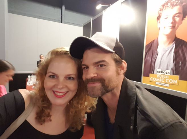 Selfie with Daniel Gillies at Dutch Comic Con