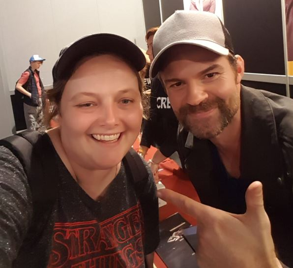 Daniel Gillies selfie at Dutch Comic Con