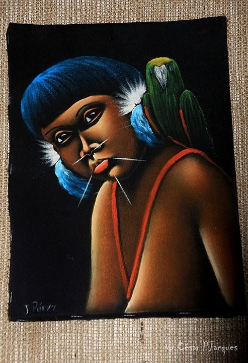 Yanomami ethnic OrinoquiArt Expostion.