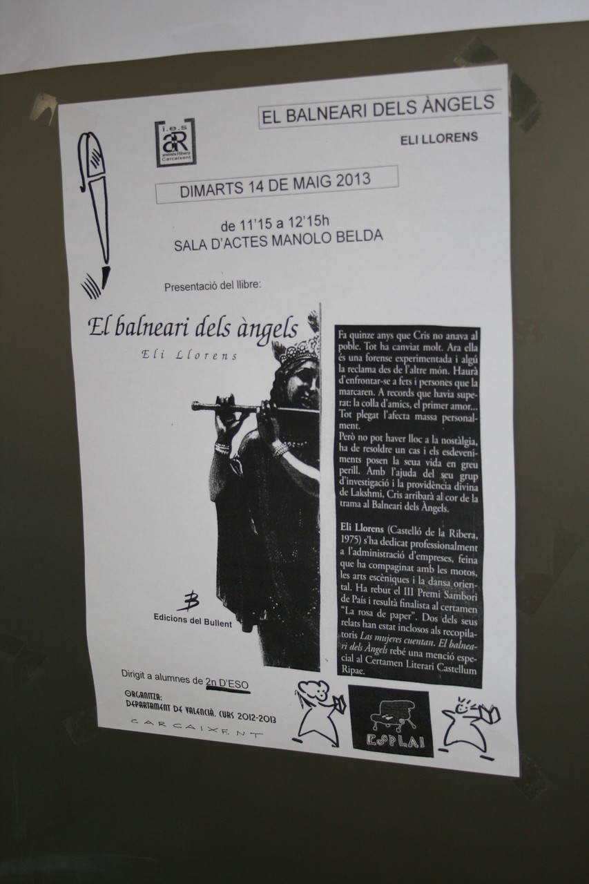"""PRESENTACION DEL LIBRO """"EL BALNEARI  DELS ANGELS"""" ELI LLORENS"""