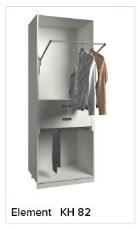 Kleiderlift, Hosenauszug und zwei Schubkästen
